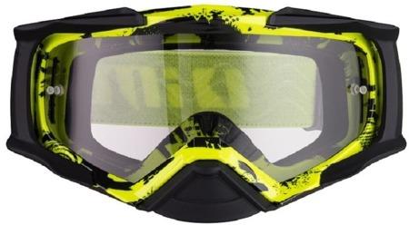 Gogle IMX DUST Graphic flo yellow/black matt - szyba dark smoke + clear (2 szyby w zestawie)