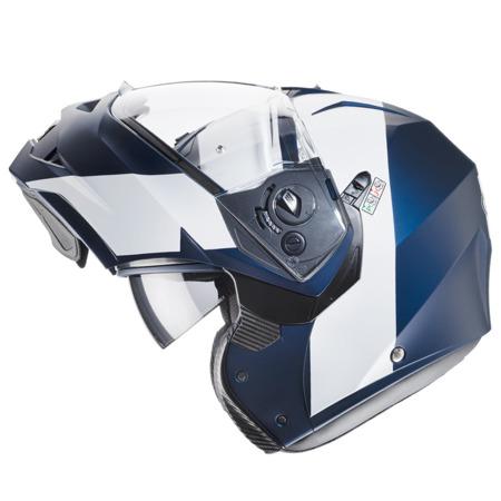 Kask CABERG DUKE II IMPACT niebieski/biały mat