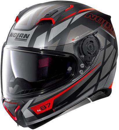 Kask NOLAN N87 ORIGINALITY N-COM 69 czarno-czerwony