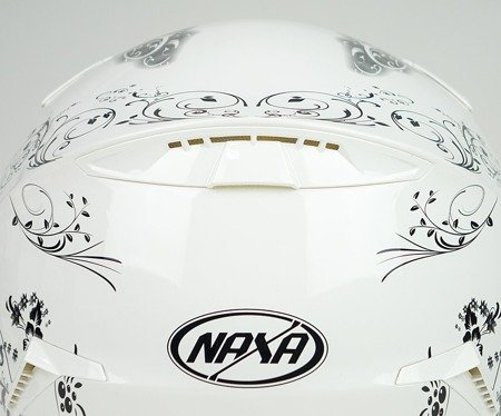 Kask integralny NAXA F25 D biało-czarny