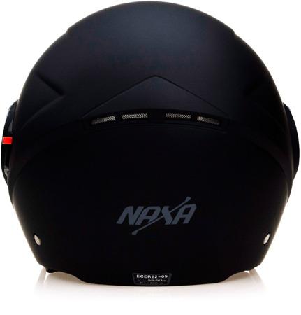 Kask otwarty NAXA S21 B czarny mat