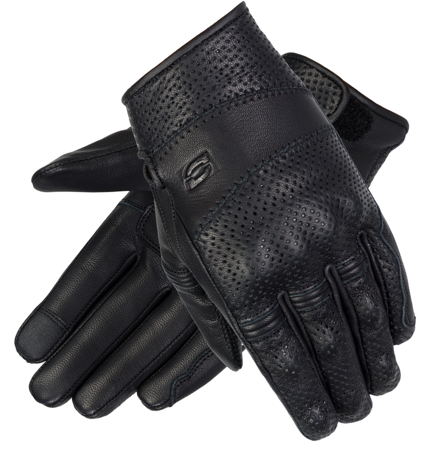 Motocyklowe Rękawice Skórzane Ozone Stick Custom II Lady Black