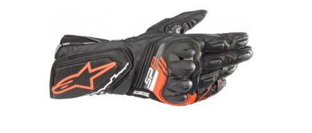 Rękawice skórzane ALPINESTARS SP-8 V3 /czarny czerwony fluo/