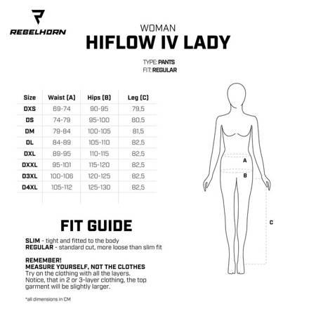 Spodnie tekstylne REBELHORN HIFLOW IV LADY